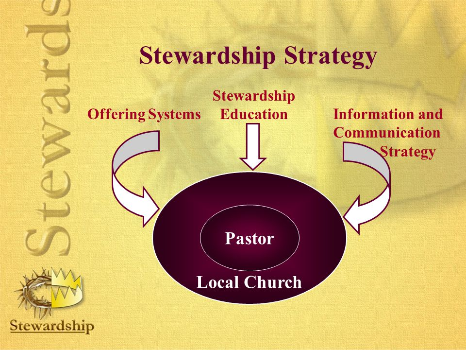 Stewardship Strategy Pastor Local Church Stewardship Education