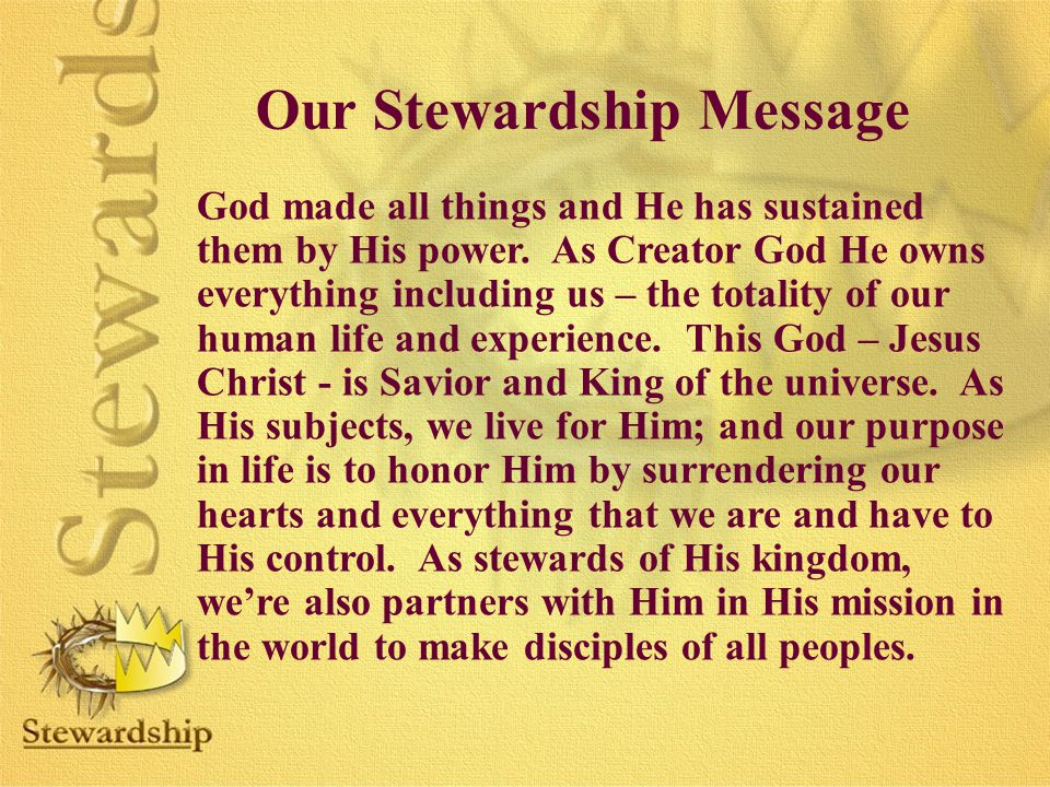 Our Stewardship Message