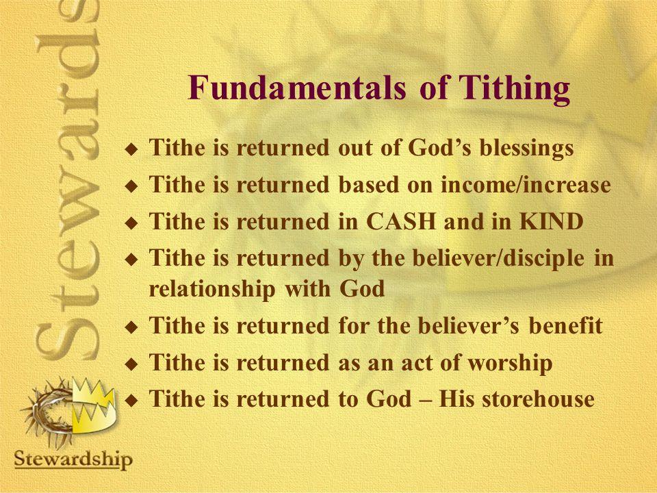 Fundamentals of Tithing