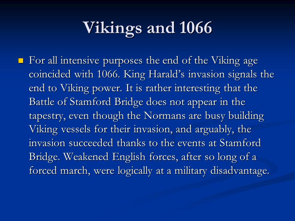 Vikings and 1066