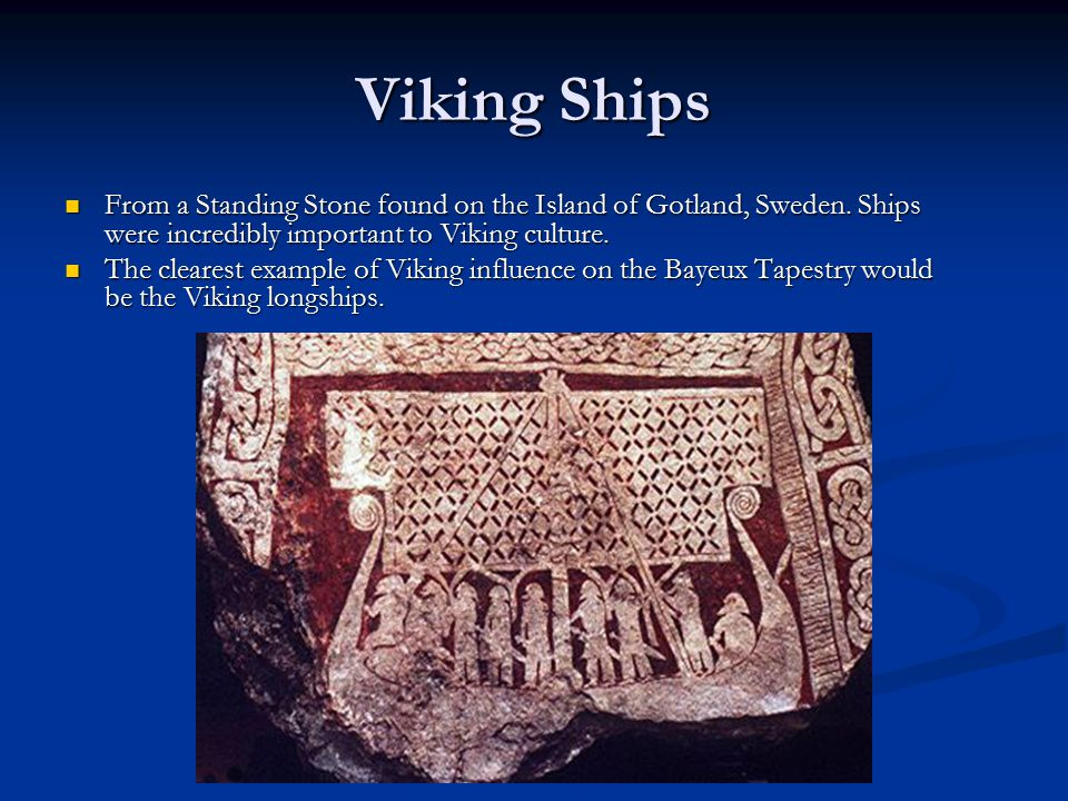 Viking Ships From a Standing Stone found on the Island of Gotland, Sweden. Ships were incredibly important to Viking culture.
