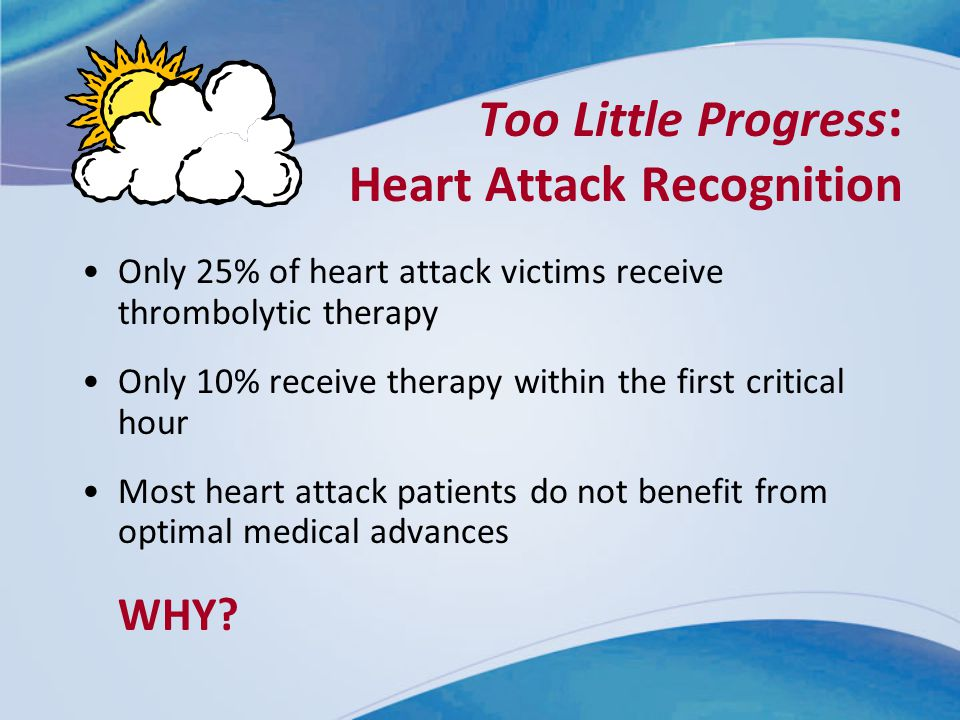 Too Little Progress: Heart Attack Recognition