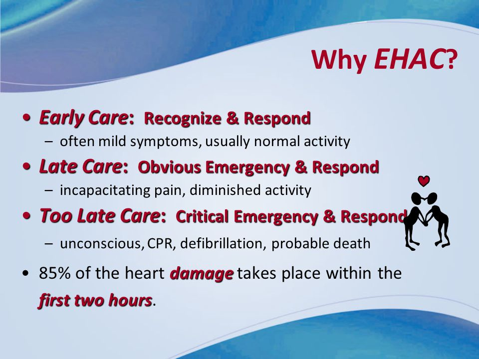 Why EHAC Early Care: Recognize & Respond