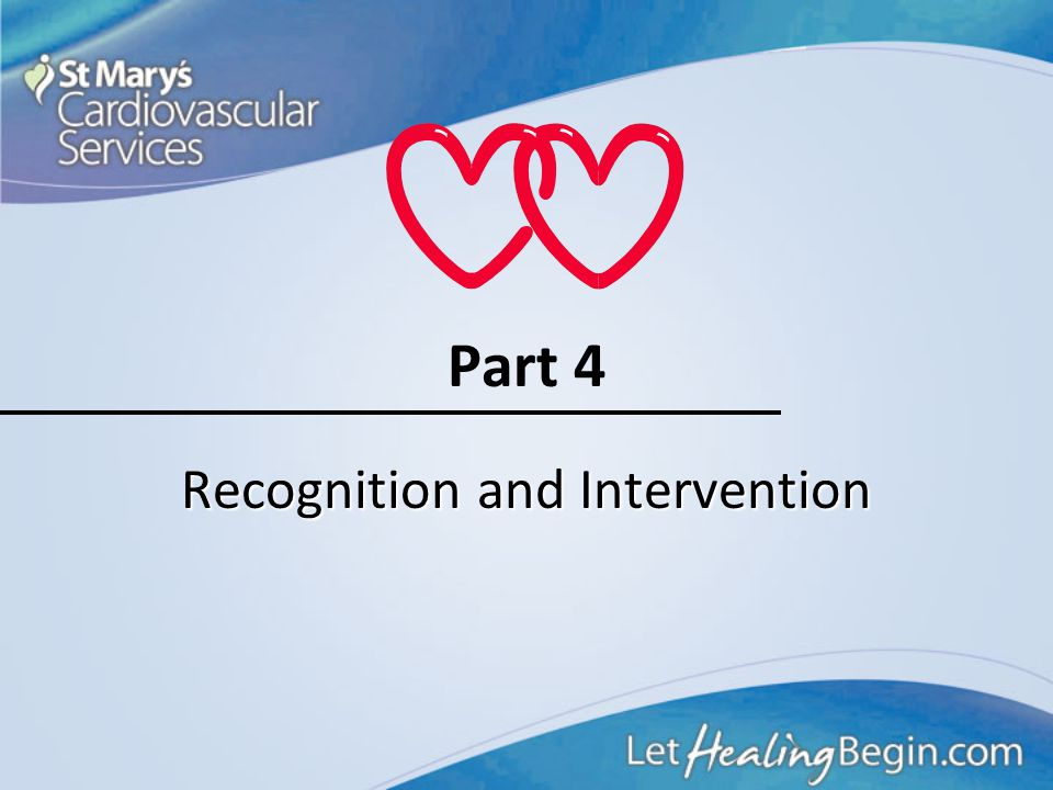 Recognition and Intervention