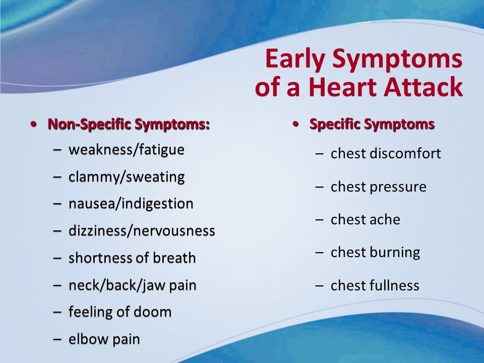 Early Symptoms of a Heart Attack
