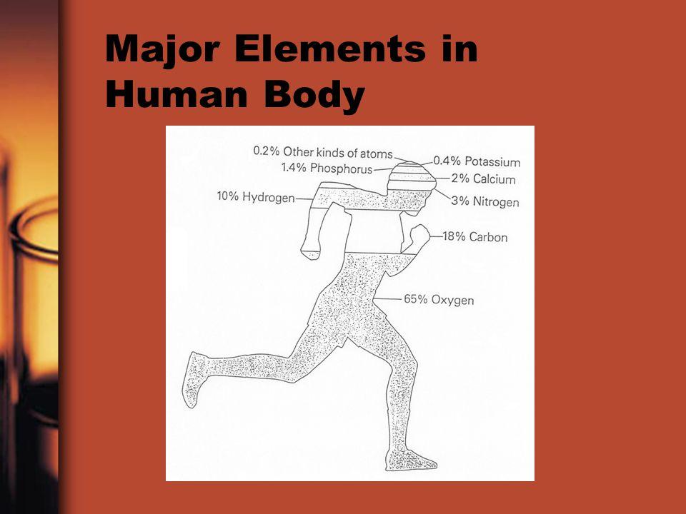 Major Elements in Human Body