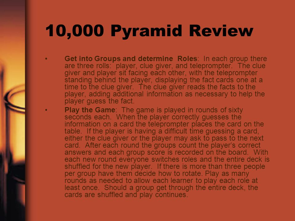 10,000 Pyramid Review