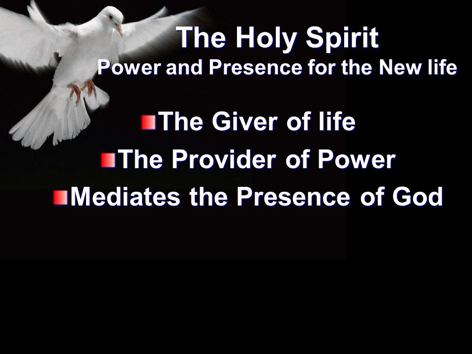 The Holy Spirit Power and Presence for the New life