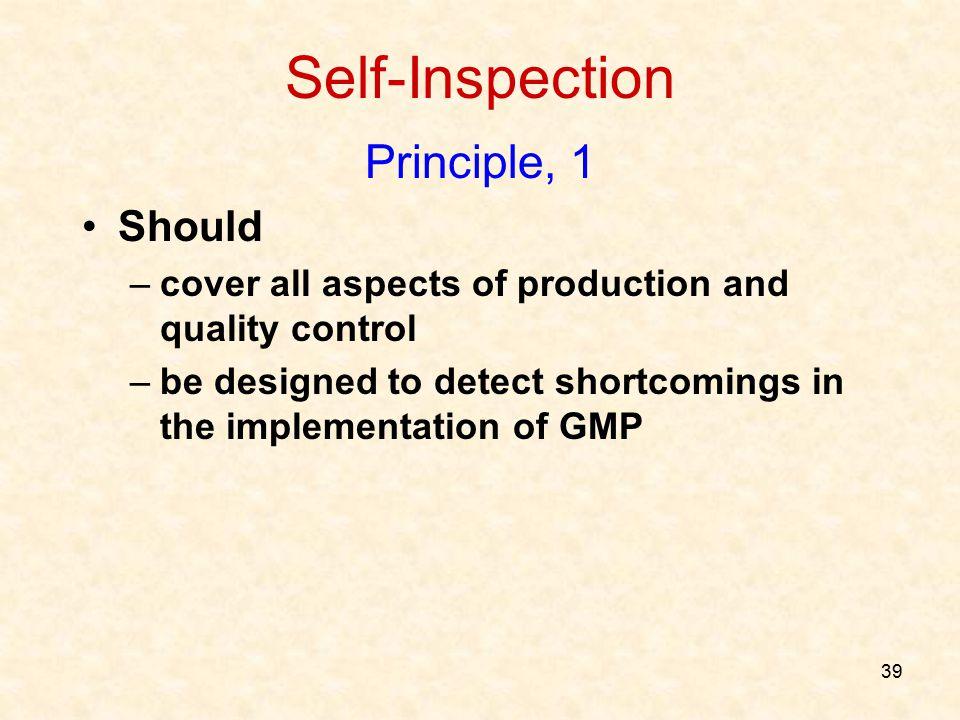 Self-Inspection Principle, 1 Should