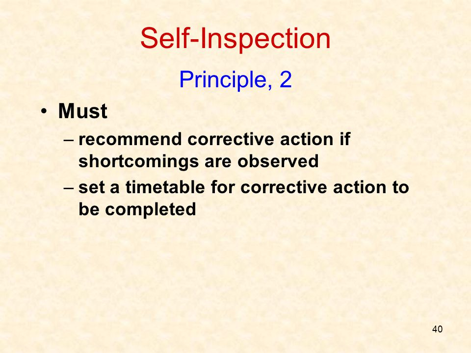 Self-Inspection Principle, 2 Must