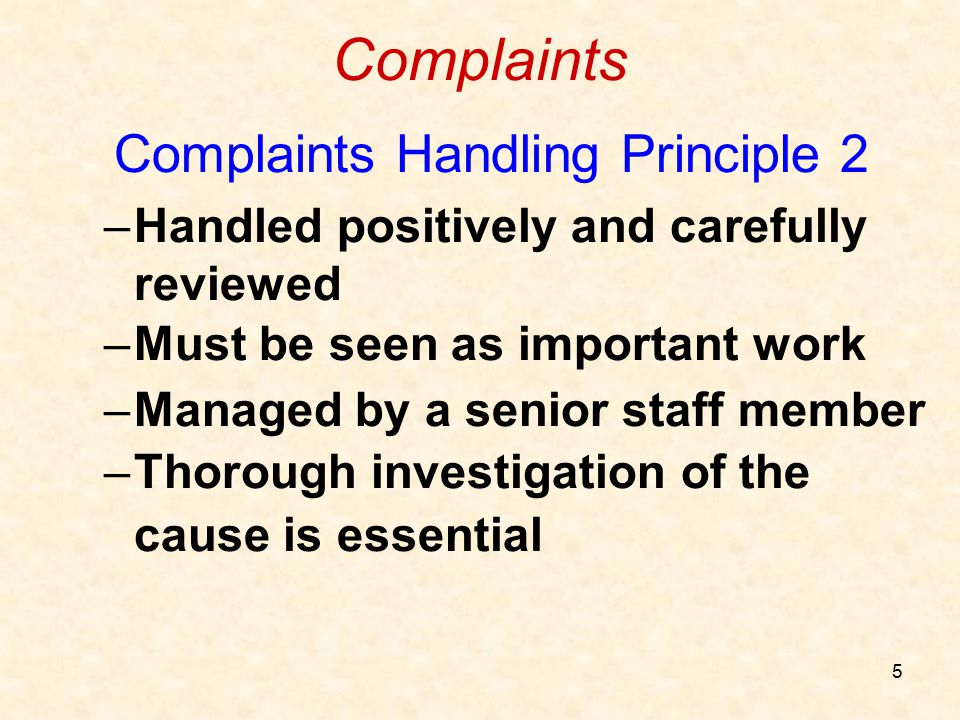 Complaints Handling Principle 2