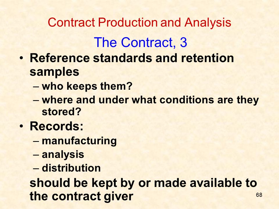 Contract Production and Analysis