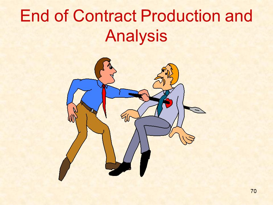 End of Contract Production and Analysis