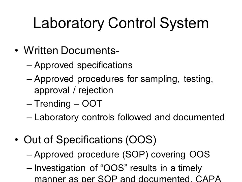 Laboratory Control System