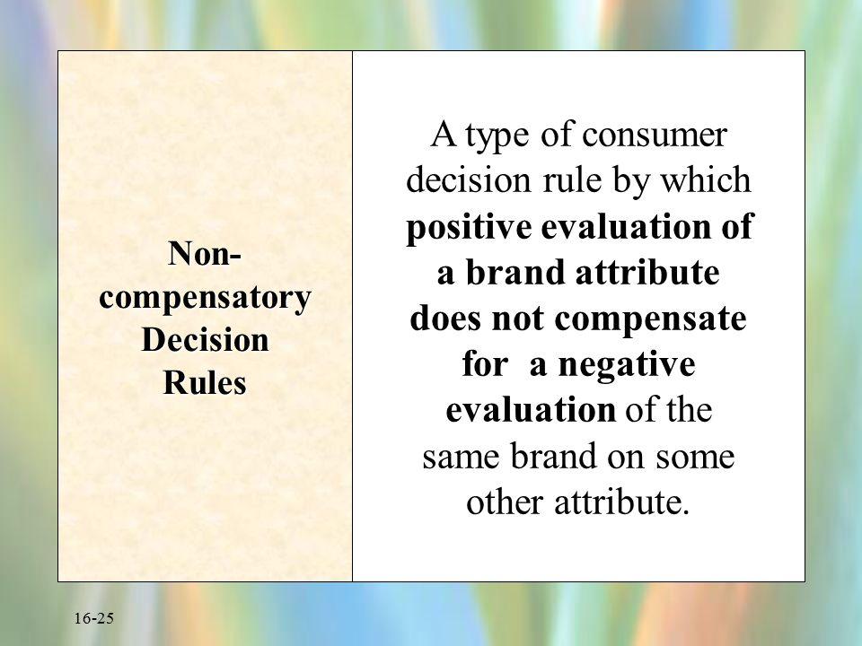 Non-compensatory Decision