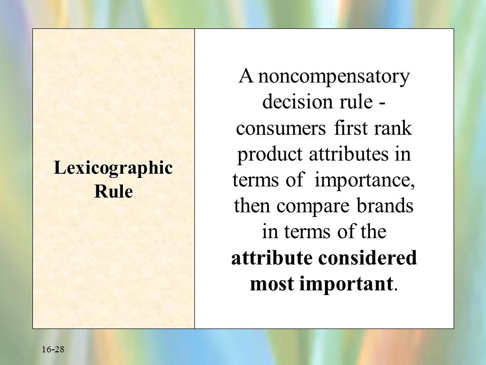 Lexicographic Rule
