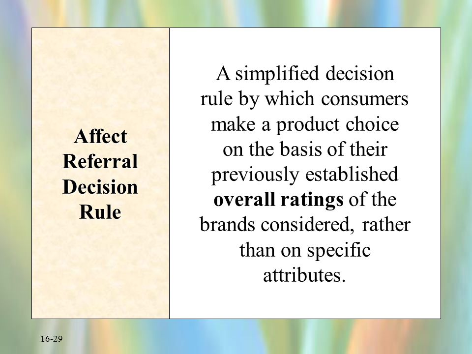 Affect Referral Decision Rule