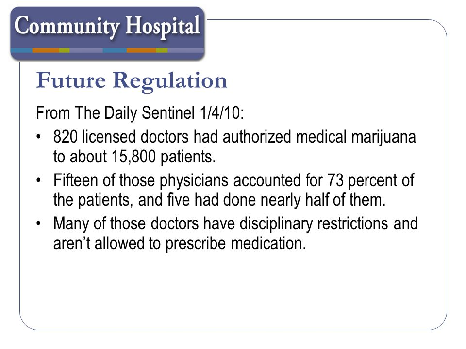 Future Regulation From The Daily Sentinel 1/4/10: