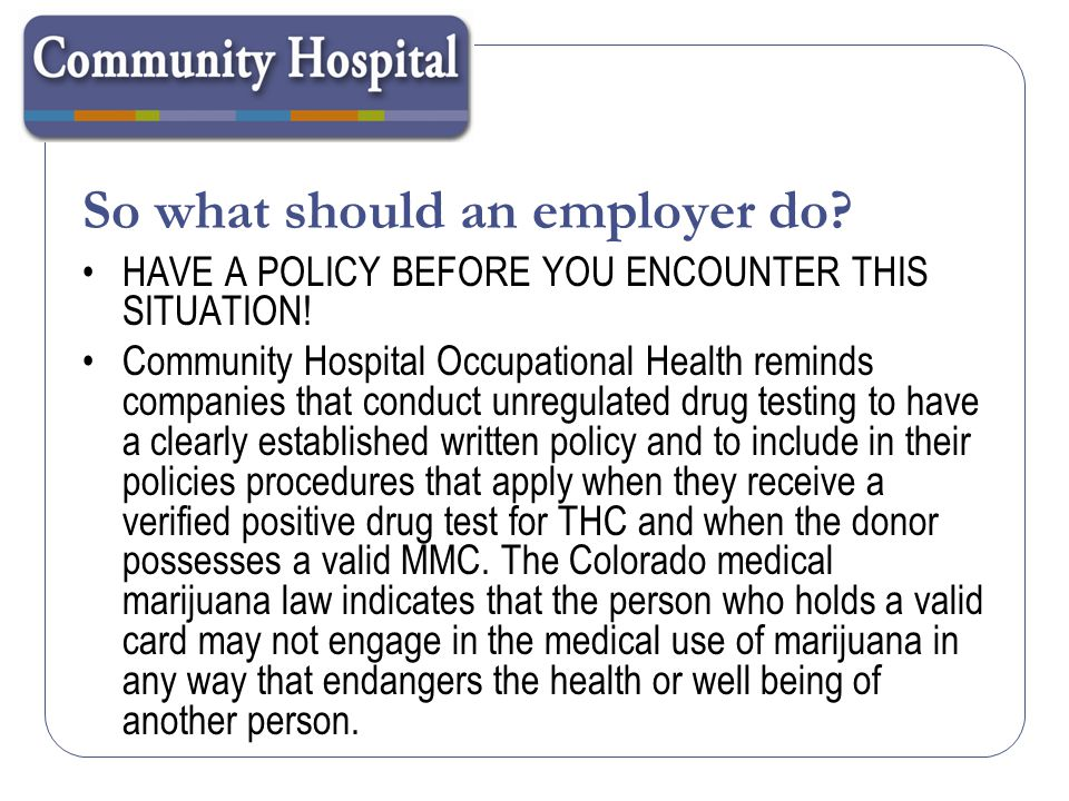 So what should an employer do