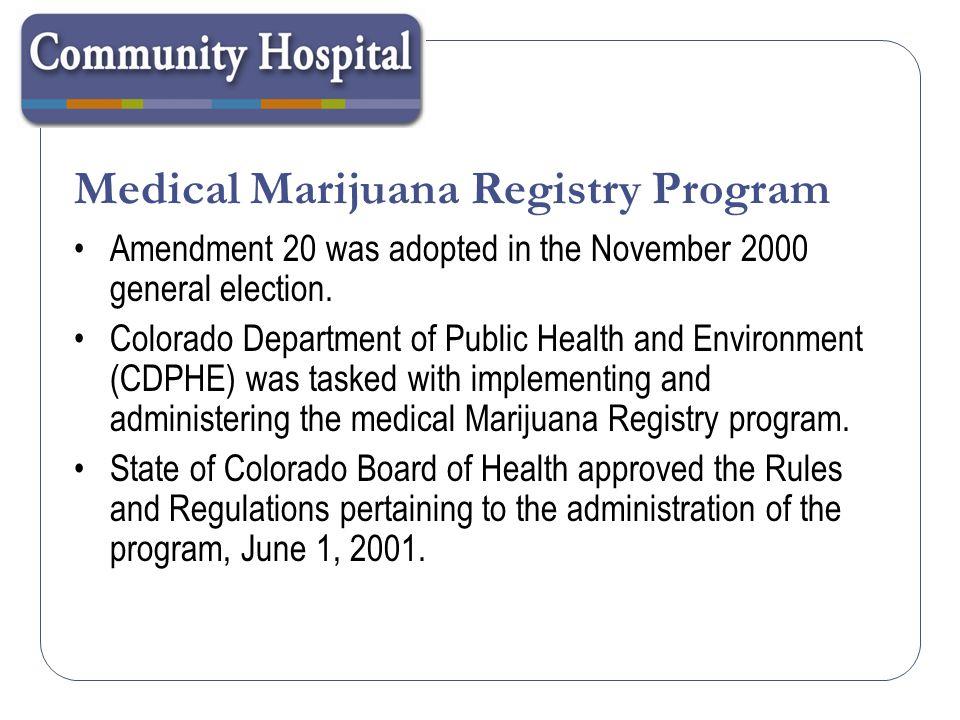 Medical Marijuana Registry Program
