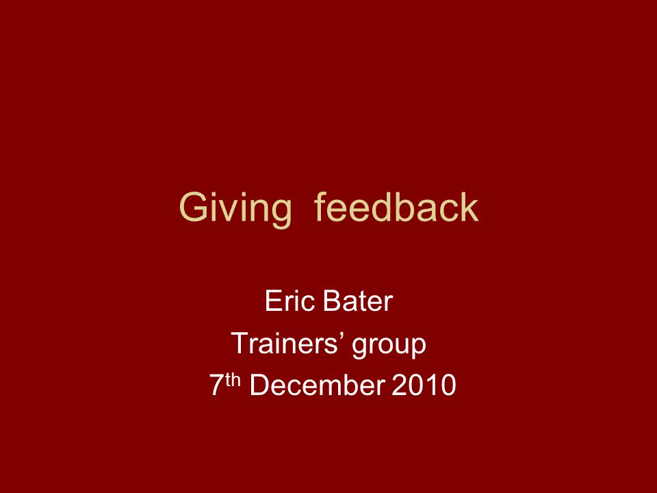 Eric Bater Trainers' group 7th December 2010