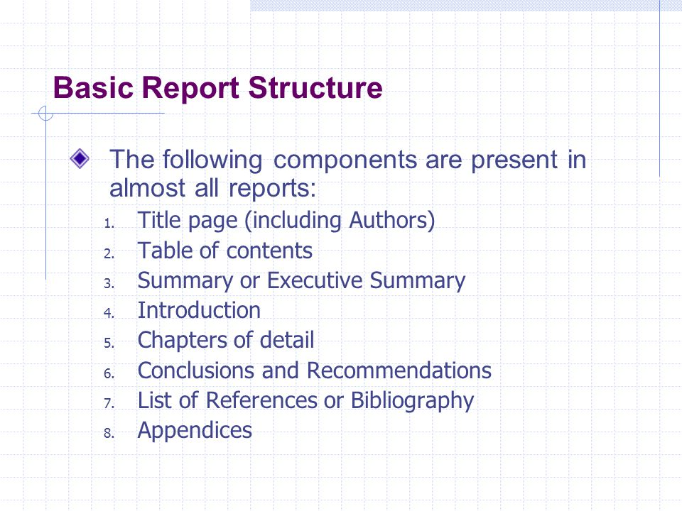 Basic Report Structure
