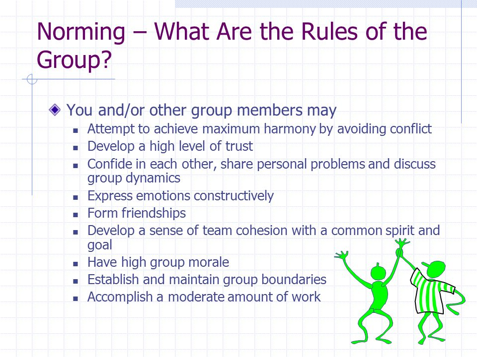 Norming – What Are the Rules of the Group