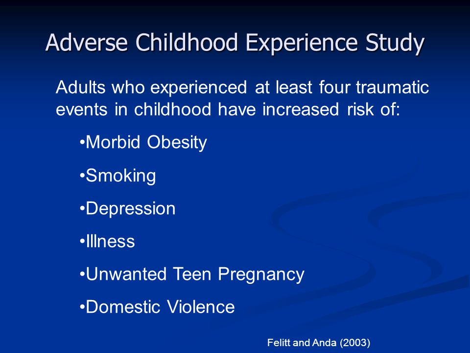 Adverse Childhood Experience Study