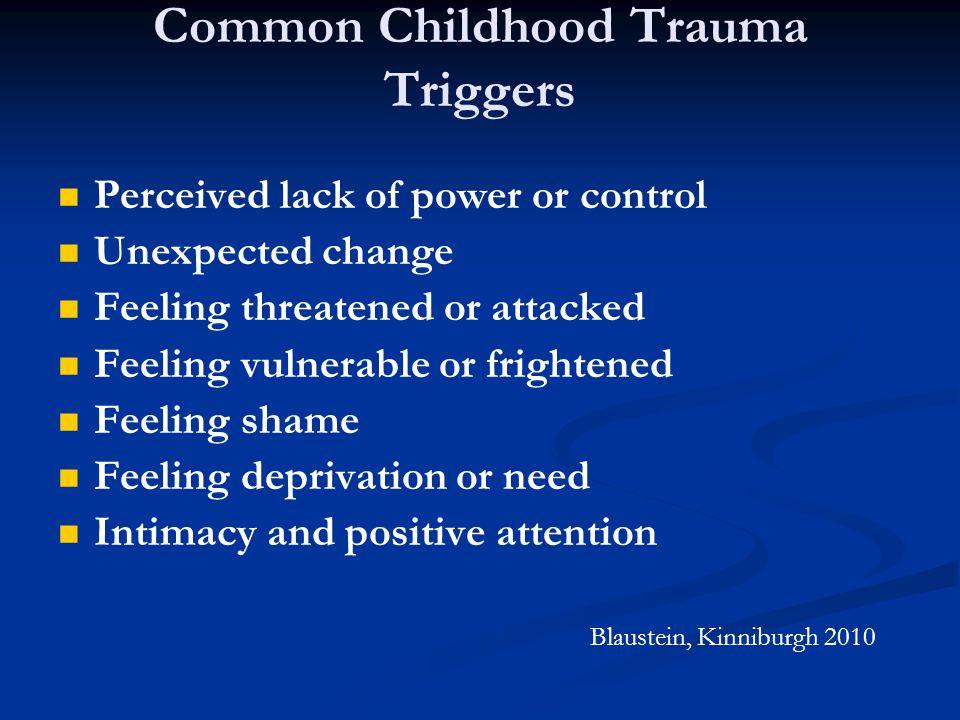 Common Childhood Trauma Triggers