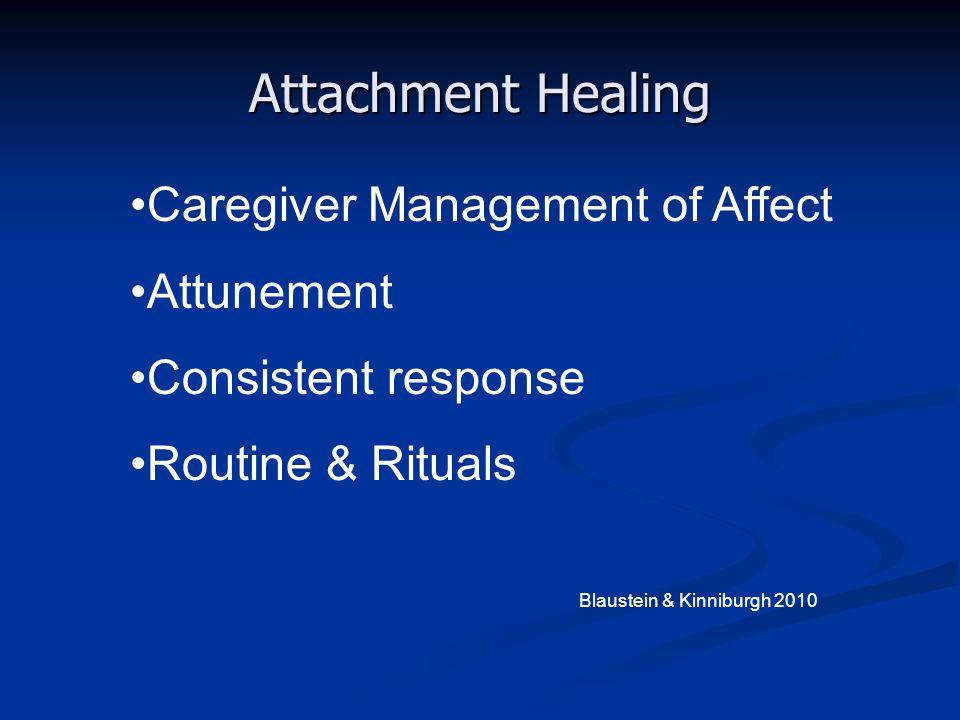 Attachment Healing Caregiver Management of Affect Attunement