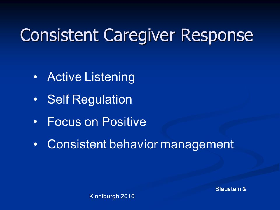 Consistent Caregiver Response