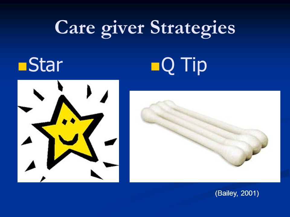 Care giver Strategies Star Q Tip (Bailey, 2001)