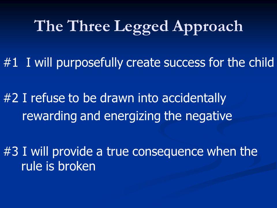 The Three Legged Approach