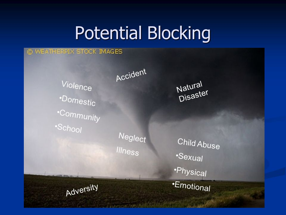 Potential Blocking Accident Natural Disaster Violence Domestic