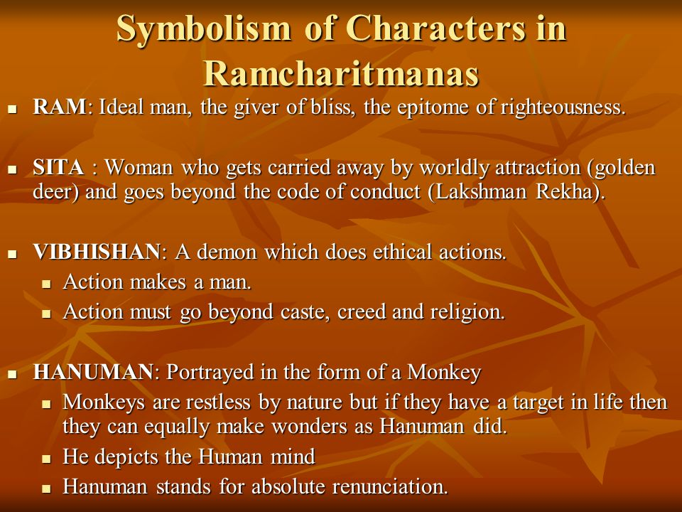 Symbolism of Characters in Ramcharitmanas