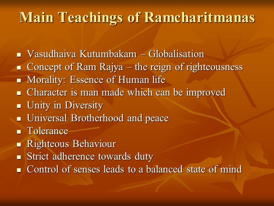 Main Teachings of Ramcharitmanas