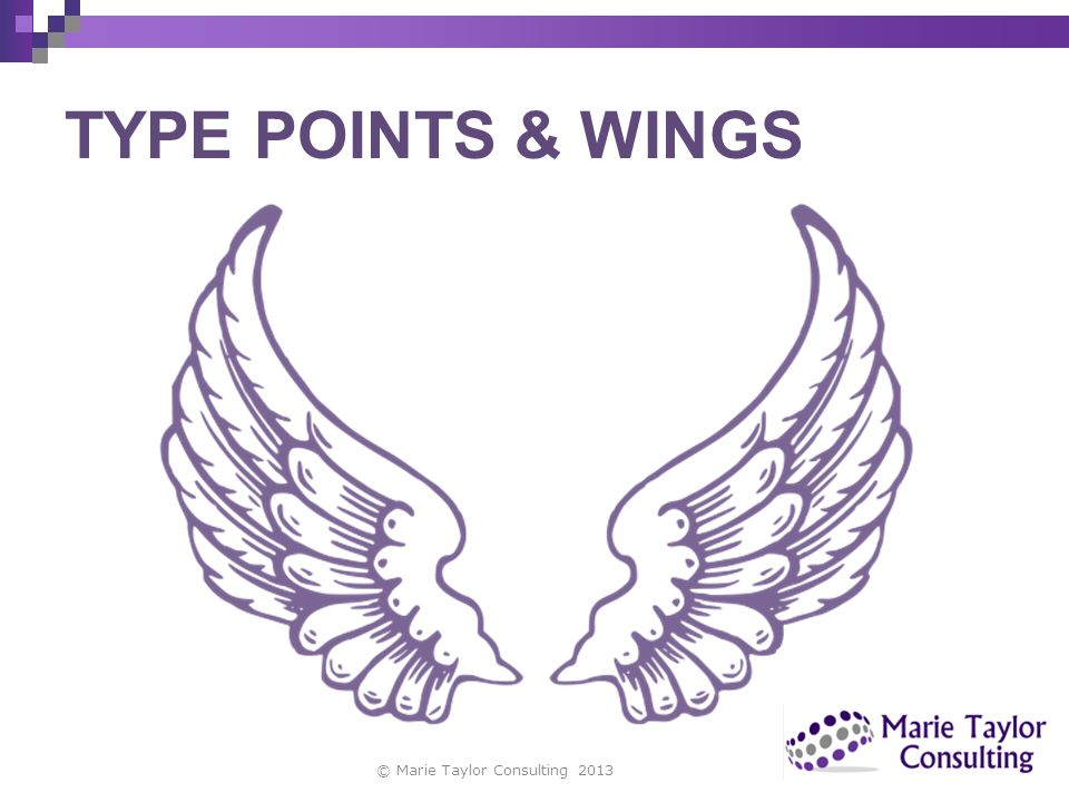 TYPE POINTS & WINGS copyright Marie Taylor