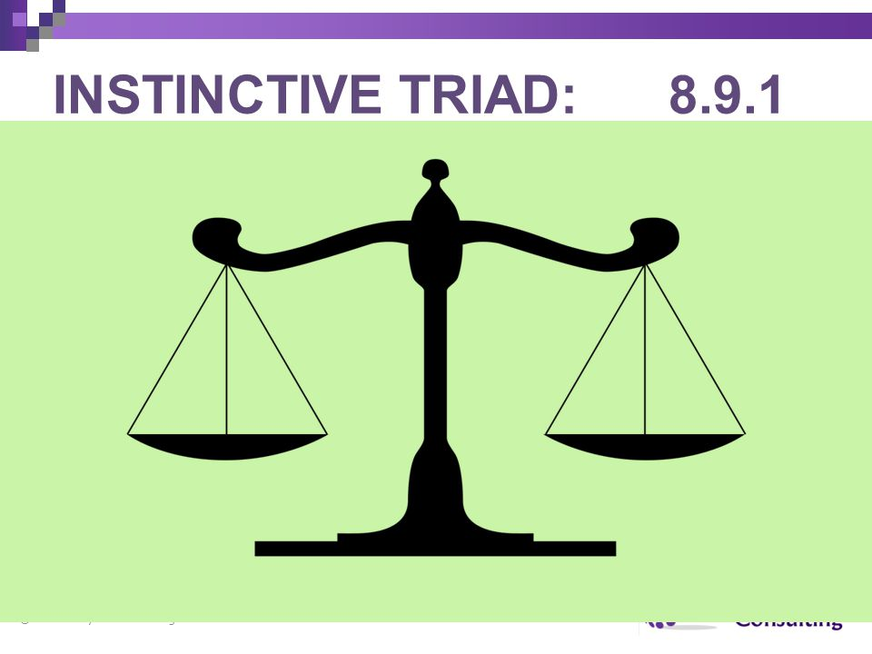 INSTINCTIVE TRIAD: 8.9.1 copyright Marie Taylor