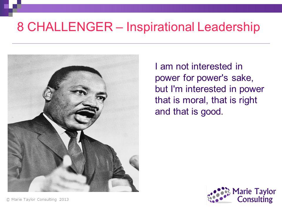 8 CHALLENGER – Inspirational Leadership
