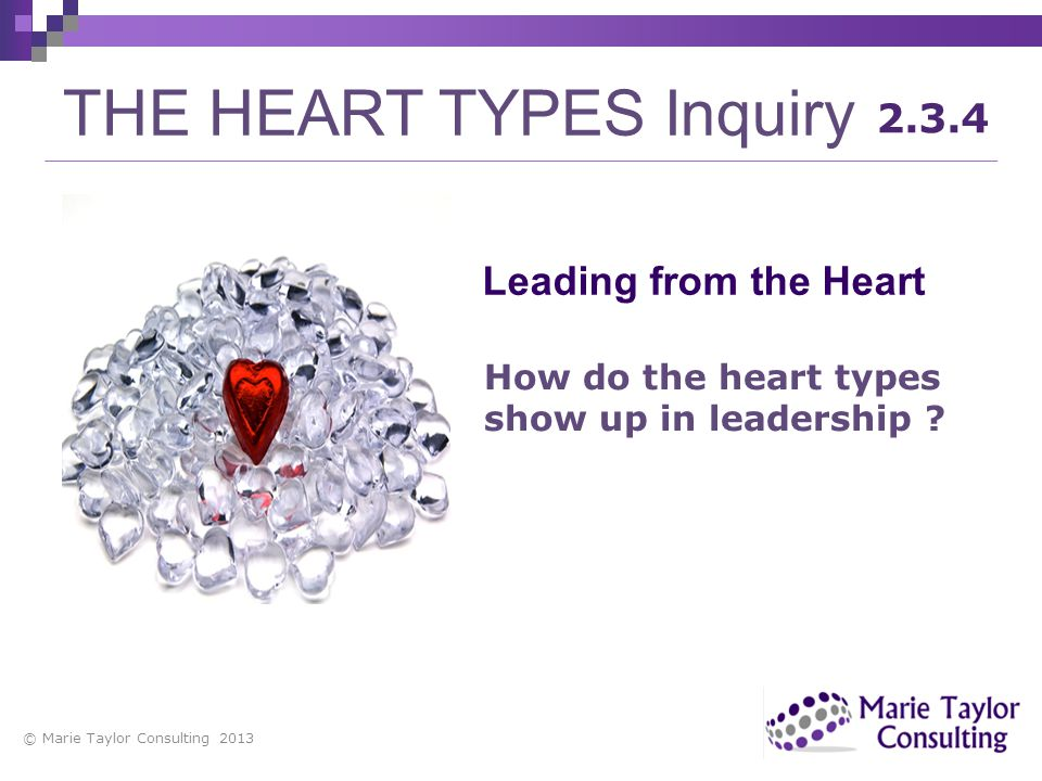 THE HEART TYPES Inquiry