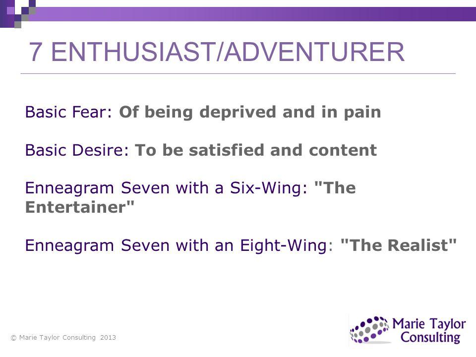 7 ENTHUSIAST/ADVENTURER