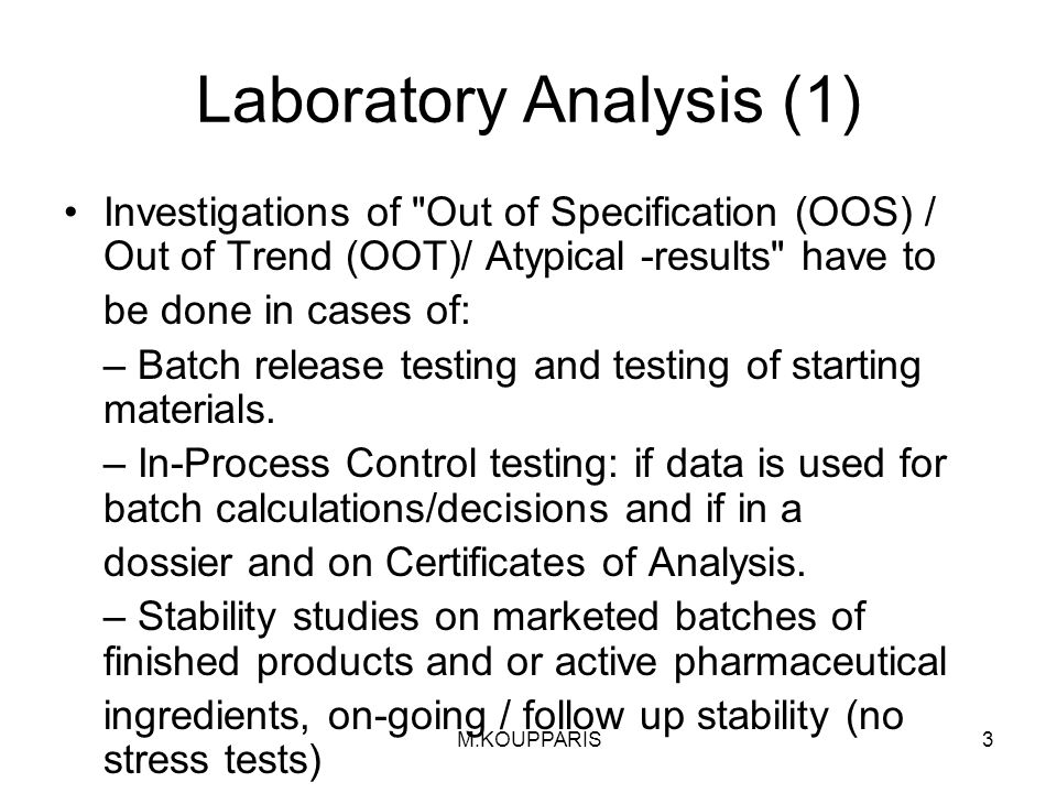 Laboratory Analysis (1)