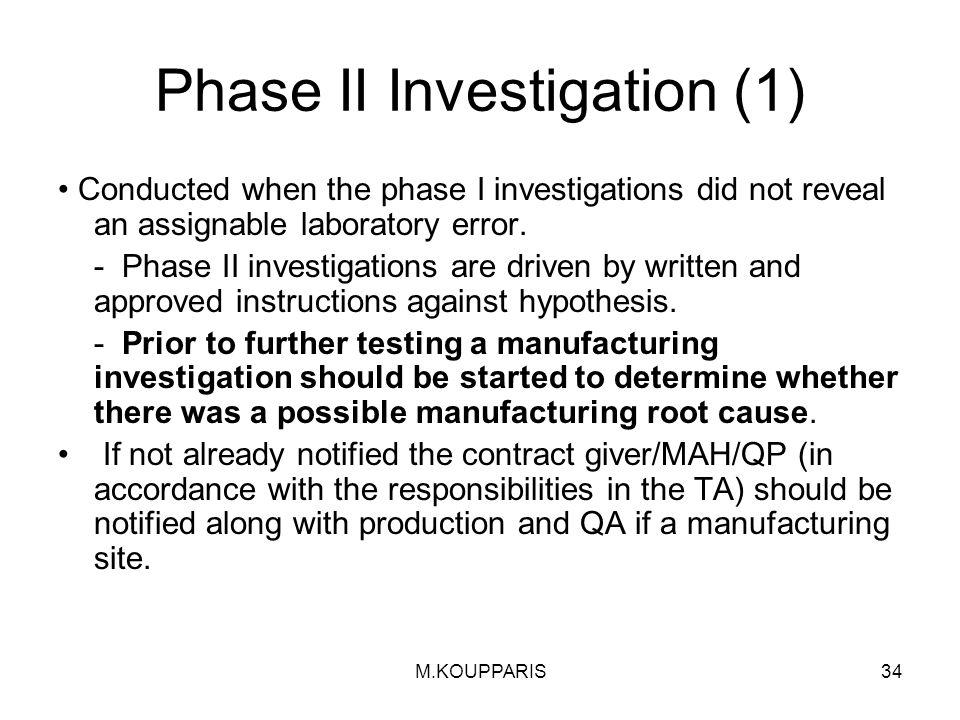 Phase II Investigation (1)