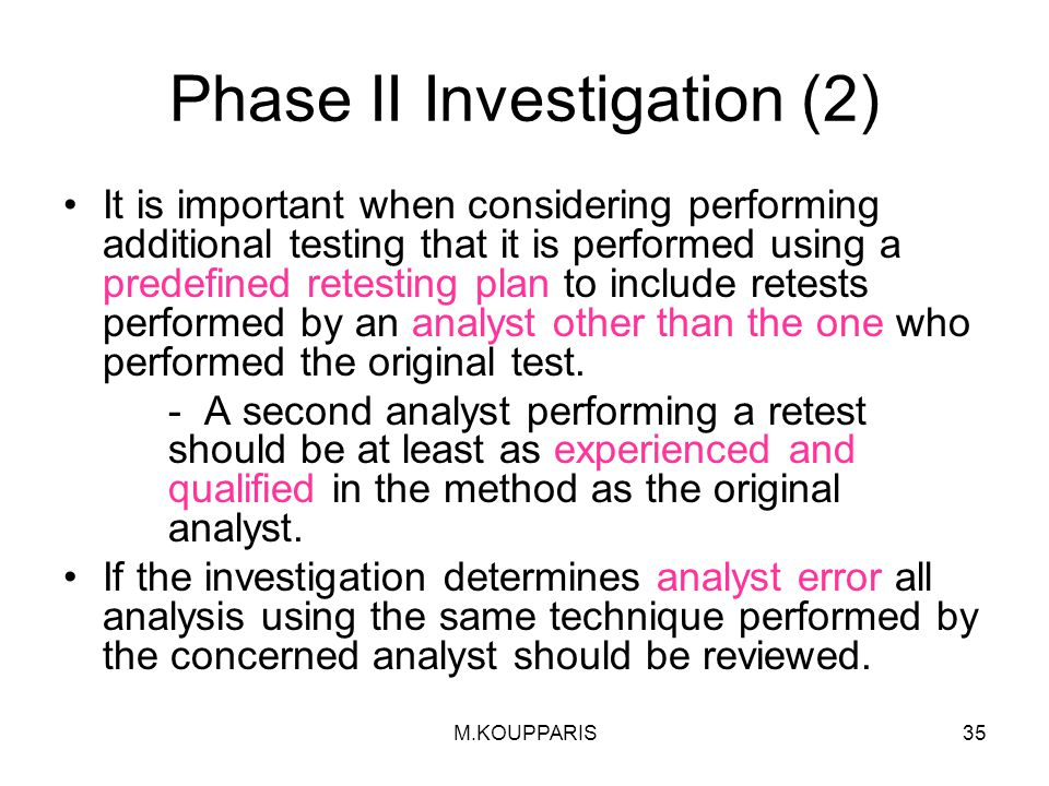 Phase II Investigation (2)