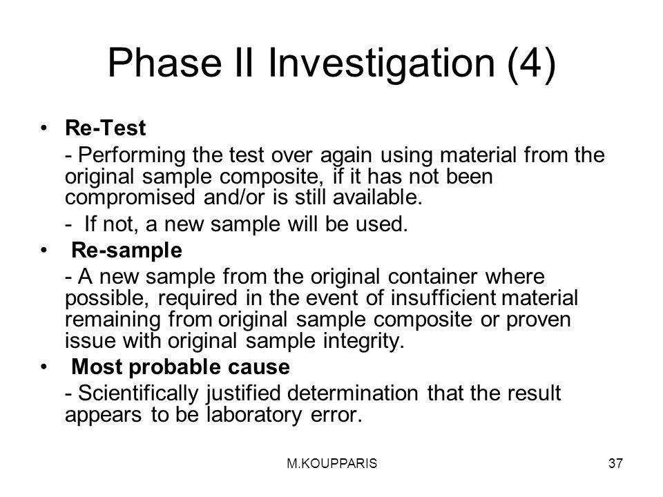 Phase II Investigation (4)