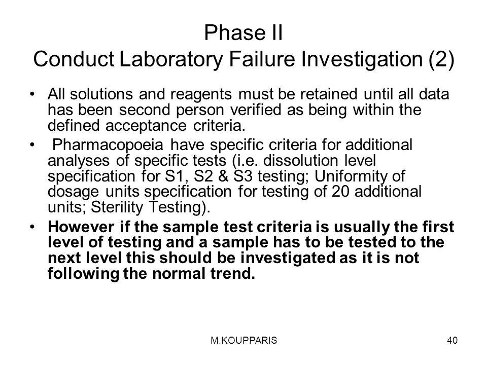 Phase II Conduct Laboratory Failure Investigation (2)