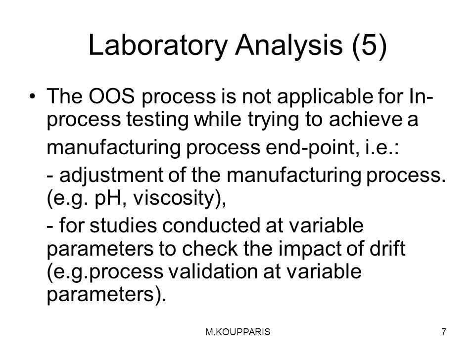 Laboratory Analysis (5)