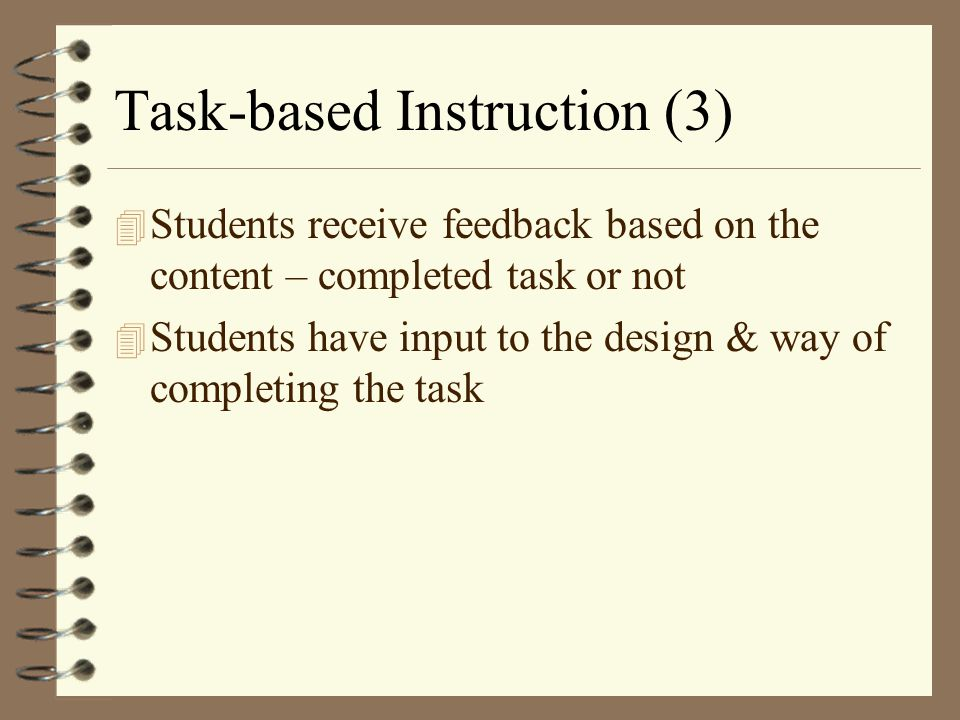 Task-based Instruction (3)