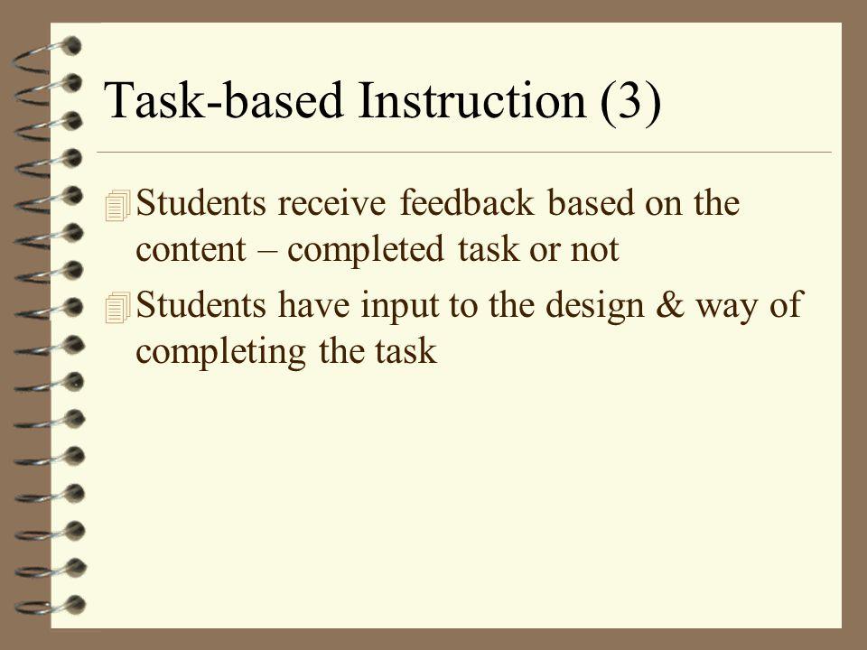Task-based Instruction (3)