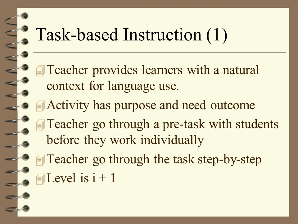 Task-based Instruction (1)